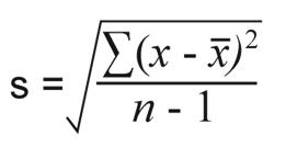 how to find sample standard deviation formula